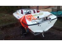 Fiesta speed/skiboat.. with galvanised trailer, comes with skis ropes etc.