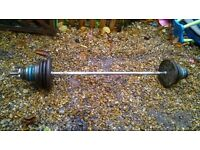 cast iron barbell weight set 50 kg