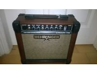 Behringer AT108 Ultracoustic Acoustic Guitar Amp - hardly used