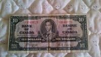 1937 Bank of Canada Ten Dollar Bill Coyne Tower