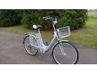 nearly new step thru electric viking e-go bike,