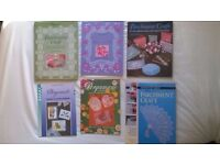 selection of parchment craft books