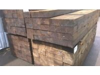 GRADE A PRESSURE TREATED RAILWAY SLEEPERS>FENCING>DECKING>JOISTS>CLADDING>FENCE PANELS >POSTS>RAILS