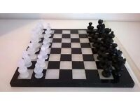 Marble Chess Set .10 and 3/4 inch square board.