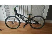 Kuwahara laserlite mini bmx racing bike with helmet, armour and outfit