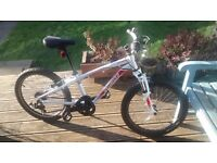 "White Specialized Hotrock Bike with front suspension ""20"""