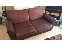 Beautiful Distressed Leather Sofa