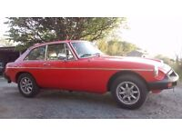 MG B GT in great colour and good condition, MOT May 17, 64000 miles