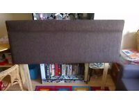 BRAND NEW KING SIZE BROWN FABRIC HEADBOARD