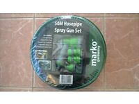 A Brand New, Unwrapped, 50M Hosepipe Spray Gun Set As Pictured.