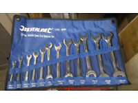 Double Open Ended Spanner Set, Silverline, as new