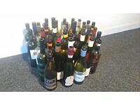 Wide range of wine bottles