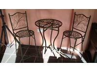 Bistro Set, Metal, Collapsable