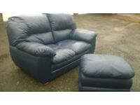 Two leather sofas for sale