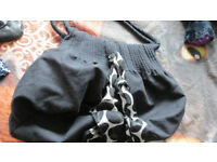 Large black bag & purse set