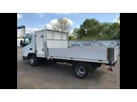 Mitsubishi canter drop side body only NOT TRUCK aluminium with locker box