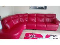 Leather corner sofa from DFS