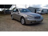 2003 MERCEDES C220 CDI CLASSIC SE, SILVER, SPARES OR REPAIR, HIGH MILEAGE