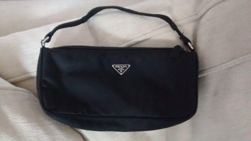 5f2ed7dc9f61 Genuine PRADA Nylon Black Mini Handbag. Unused and as new. | in ...