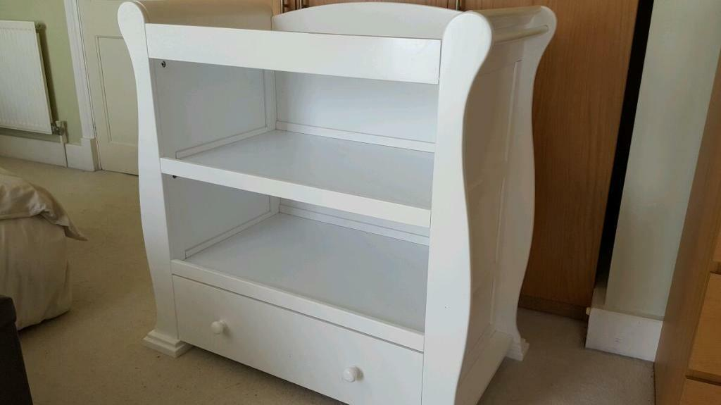 Mothercare Sleigh Style Baby Changing Table In Grove