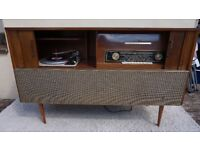 VINTAGE VALVE PYE STREOPHONIC RECORD PLAYER GRAMAPHONE 1950/60's WORKING