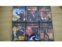 James Bond DVDs x6
