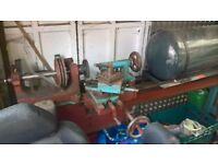 metal turning lathe very old