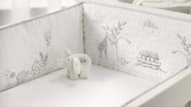 The White Company - Noah's Ark Cot Bumper - New with Tags & Receipt