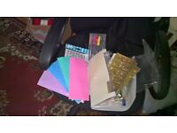 Expanding wallet containing sheets of peel off stickers for card making /craft