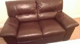 Leather sofa (brown)