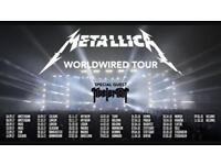 Metallica tickets Manchester 28 Oct (sold)