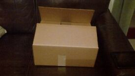 10 DOUBLE WALL BROWN CARDBOARD BOXES 39 x 31 x 16 cms *ONLY USED ONCE*