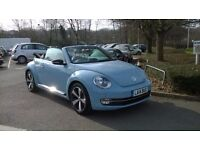 Beautiful VW BEETLE BUG Convertible 60's Limited Edition, Denim Blue, Leather Interior, Sat nav