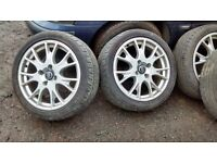 Volvo 17 inch alloy wheels 2001 S40 T4 also fits Honda, Kia , Mitsubishi and Chevrolet / Daewoo