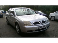 VAUXHALL VECTRA 1.8i LS 16V 2002 52 REG MET SILVER 5 DOORS 5 SPEED MANUAL PAS A/C ONLY 48K FROM NEW!