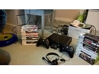 Xbox 360 250gb Bundle Kinect 29 Games 2 Controllers