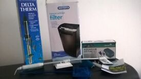 160 litre fish tank, stand and accessories