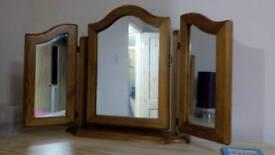 Pine vanity mirror