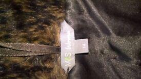 Ladies false fur coat