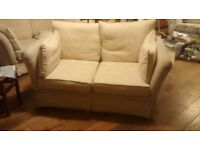 FREE TO COLLECT - TWO LIGHT COLOURED 2 SEATER SOFAS