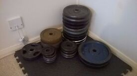 Cast iron weight plates £1 per kg