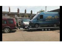 Vehicle transport, recovery, breakdown and movement.