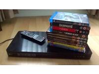 LG BP645 3D Smart Blu-ray and DVD Player plus DVD & Bluray bundle
