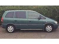 VAUXHALL ZAFIRA 7 SEATER 1.6L (2002) year mot low 66k and tow bar fitted