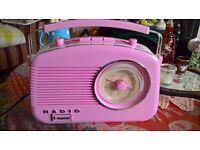 Pink Steepletone FM radio