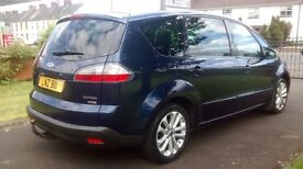 2007 FORD S-MAX ZETEC 2.0TDCi , Metallic blue with Panoramic Glass Roof. 2 Owners with FSH