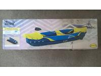 Brand new boxed 2 Person Inflatable Kayak Crivit + aluminium double padel + carry bag Bargain