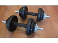 York Fitness Cast Iron Dumbbell Spinlock Set (Set of 2) - 20 Kg