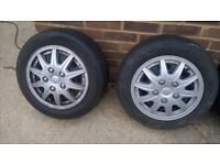 VAUXHALL CORSA / VW POLO STEELS WITH TYRES 4 X 100