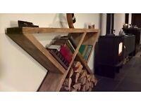 Handmade, reclaimed, destressed wood sideboard